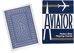 Aviator Playing Cards Poker Size (Blue)