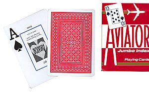 Aviator Playing Cards Poker Size (Red)