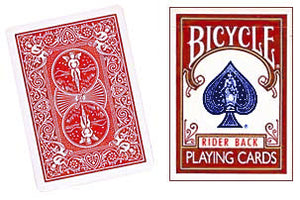 Double Back Bicycle Cards Red/Red
