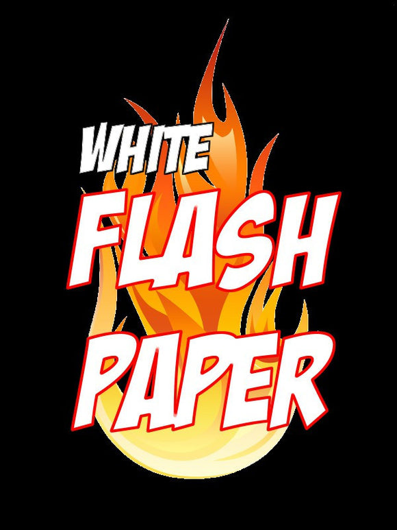 Flash Paper White 4 Sheets by Illusioncraft