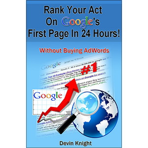 How To Rank Your Act on Google by Devin Knight - Book