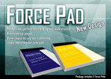 Force Pad New Design Yellow Lined Paper - ( Set of Two)
