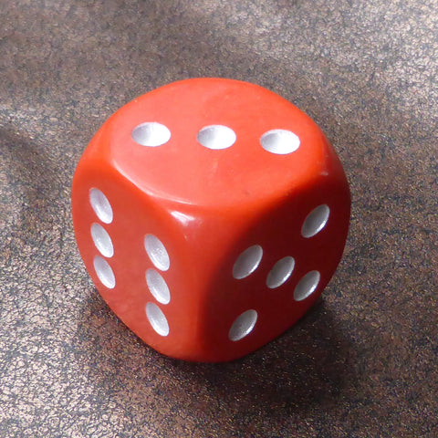 Double Dice Number 6 (36mm) By Warped Magic