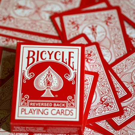 Reversed Back Bicycle Deck - Red By Magic Makers