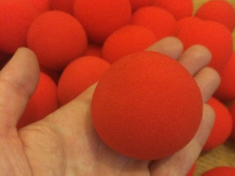 Sponge Balls - 5cm Loose Red
