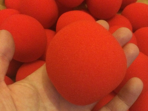 Sponge Balls - 6cm Loose Red