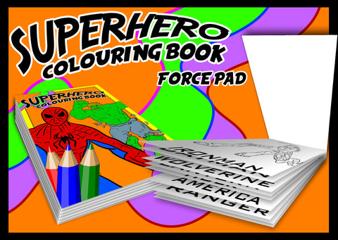 Superhero Colouring Book - Force Pad (Set Of Two)