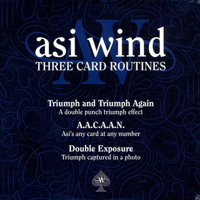 Three Card Routines DVD by Asi Wind