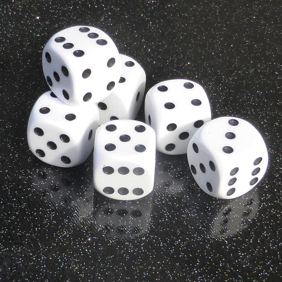 Double Dice Set of Six (16mm) By Warped Magic