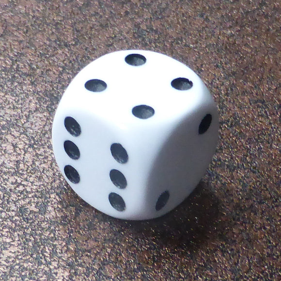 Regular Dice White (16mm) By Warped Magic