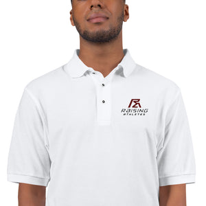 Raising Athletes Classic Embroidered Polo Shirt - White