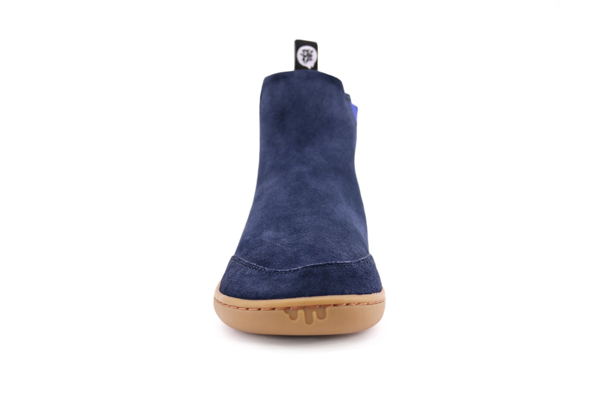 NAVY SUEDE CHELSEA PK FRONT VIEW