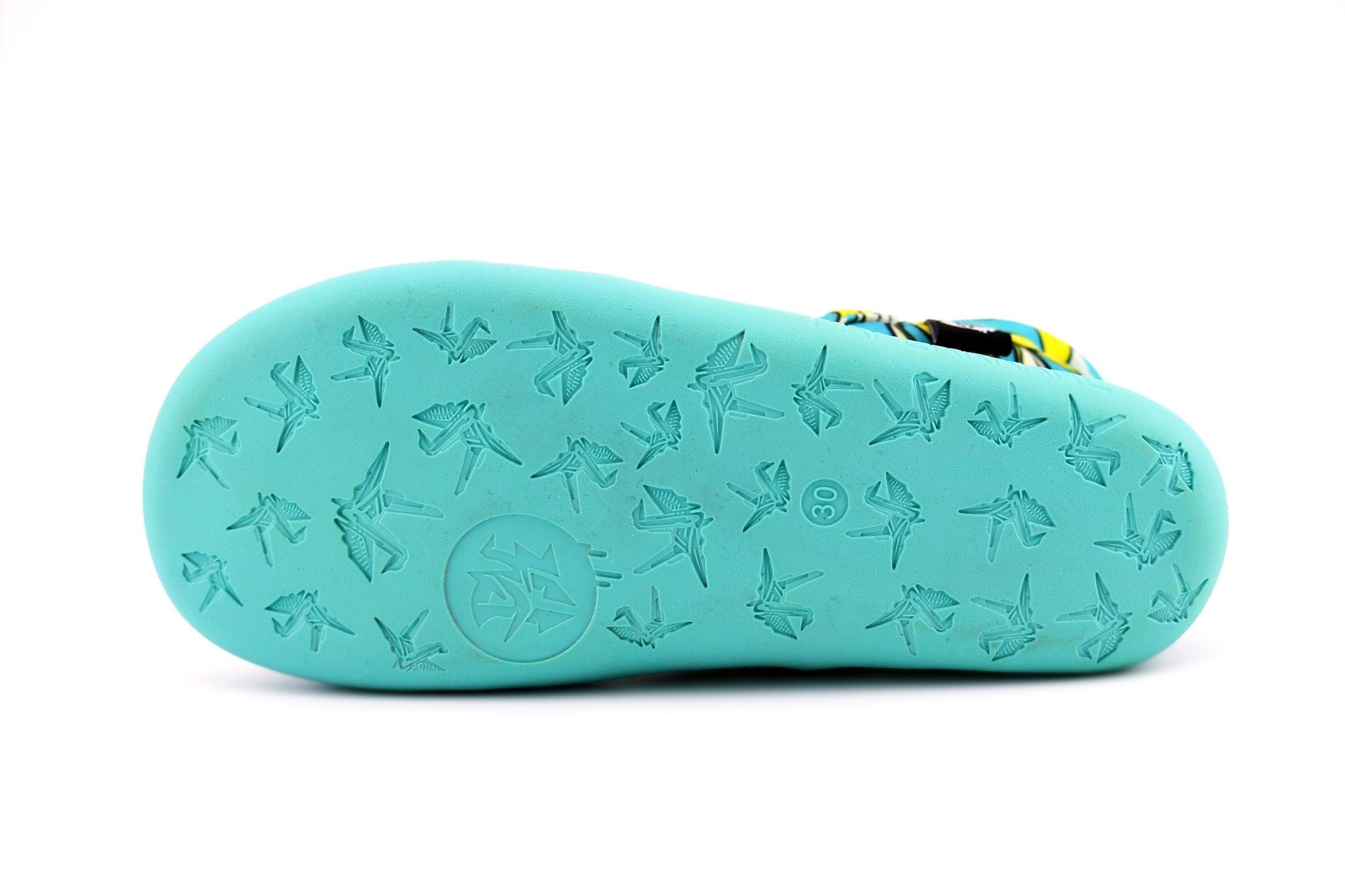aqua colour PaperKrane flexi sole.