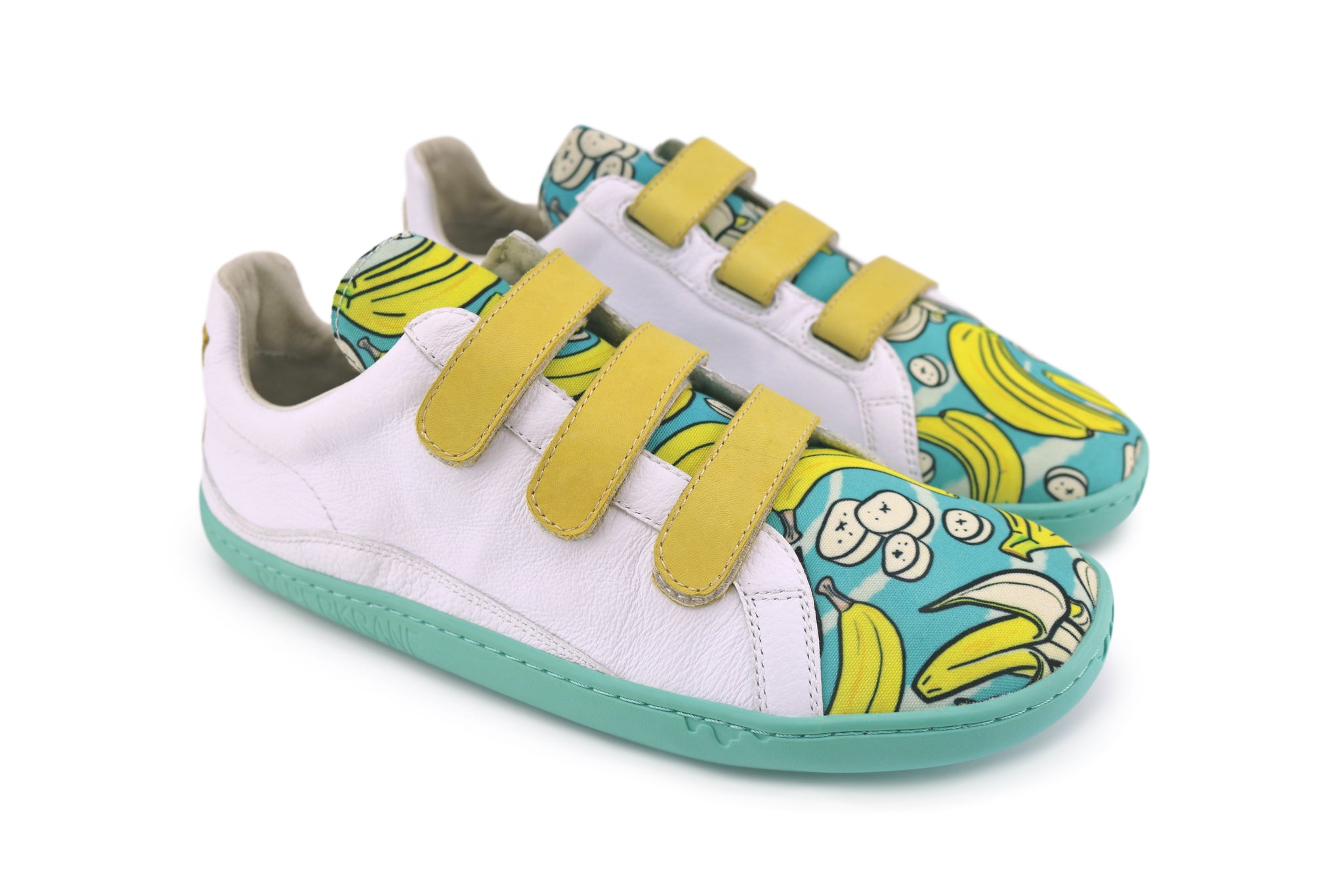 PaperKrane velcro style shoe with banana print on the front