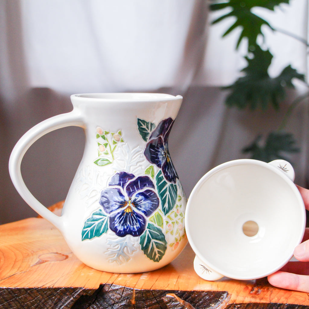 Pansy Pour Over Set