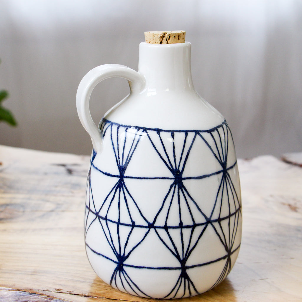 Diamond Painted Line Jug