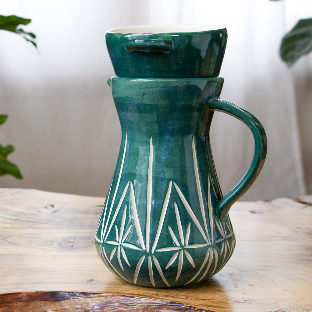 Emerald Deco Pour Over Set