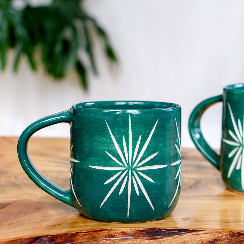 Emerald Deco Mug 14oz