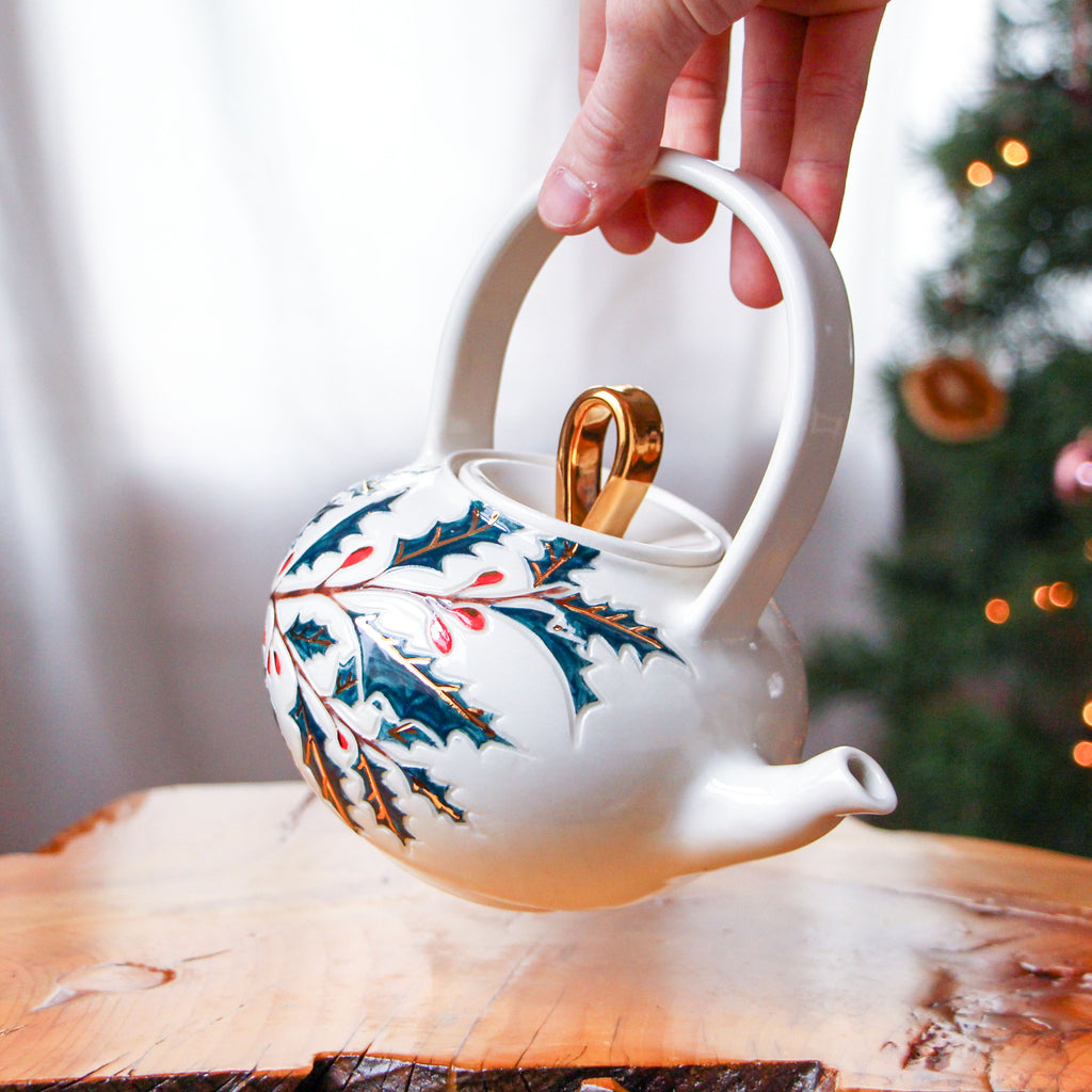 Limited Edition Holly Jolly Teapot
