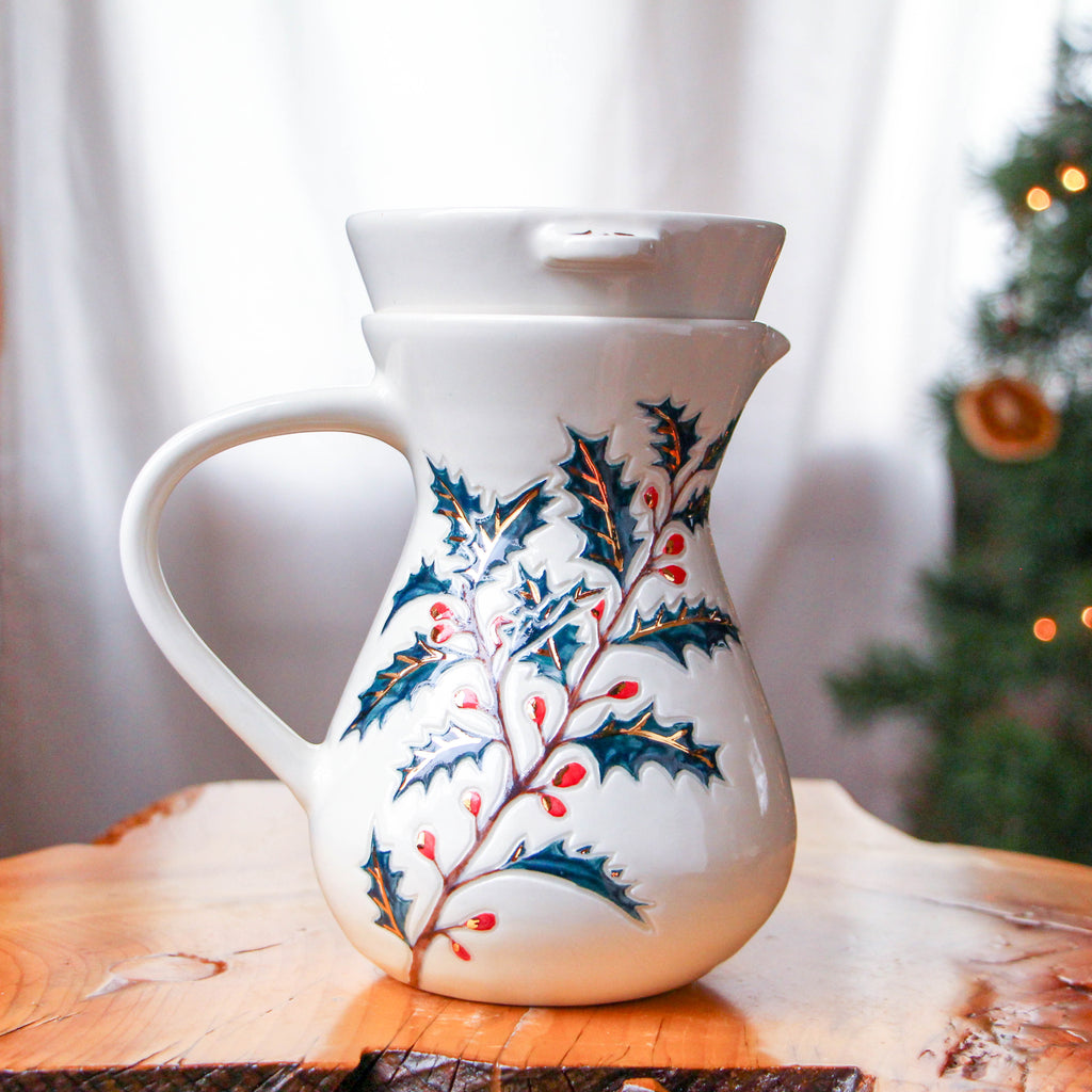 """Holly Jolly"" Pour Over Set"