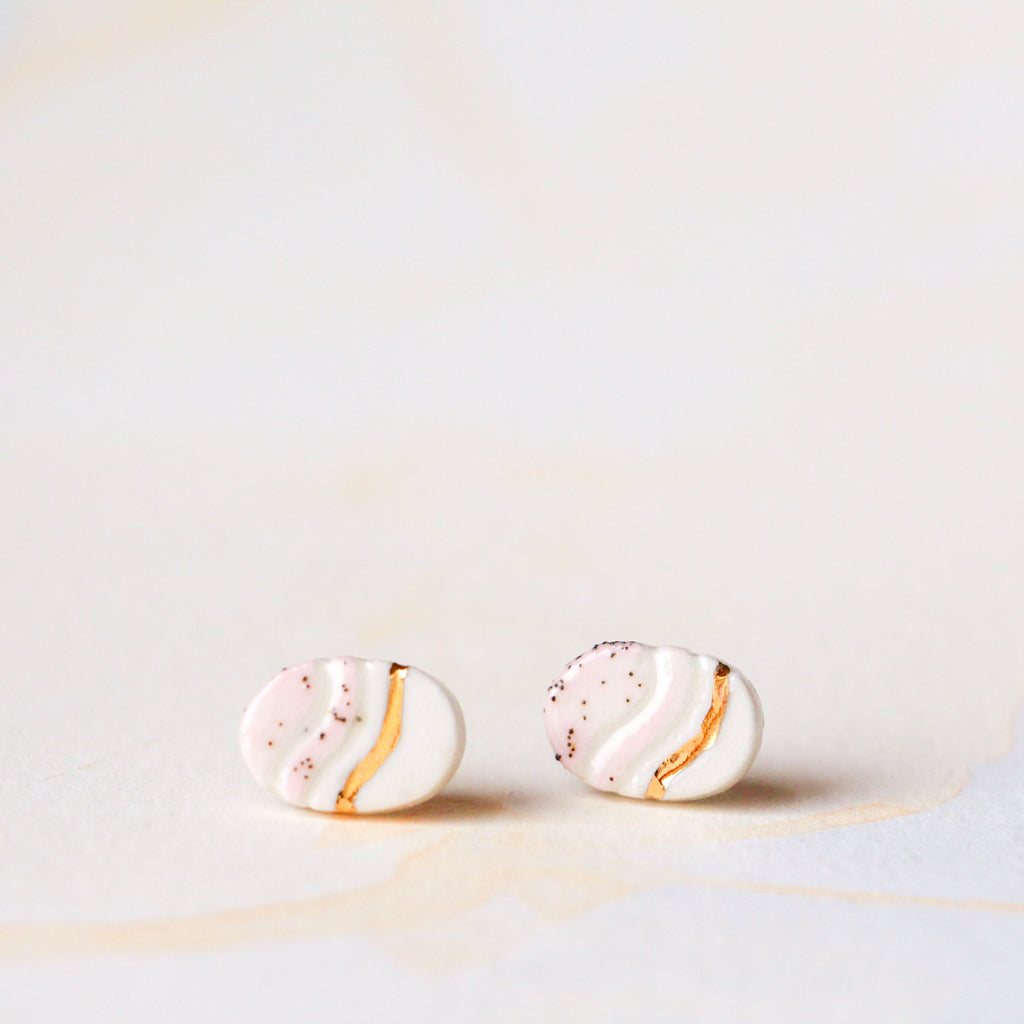 Pink Trail Oval Earring #2