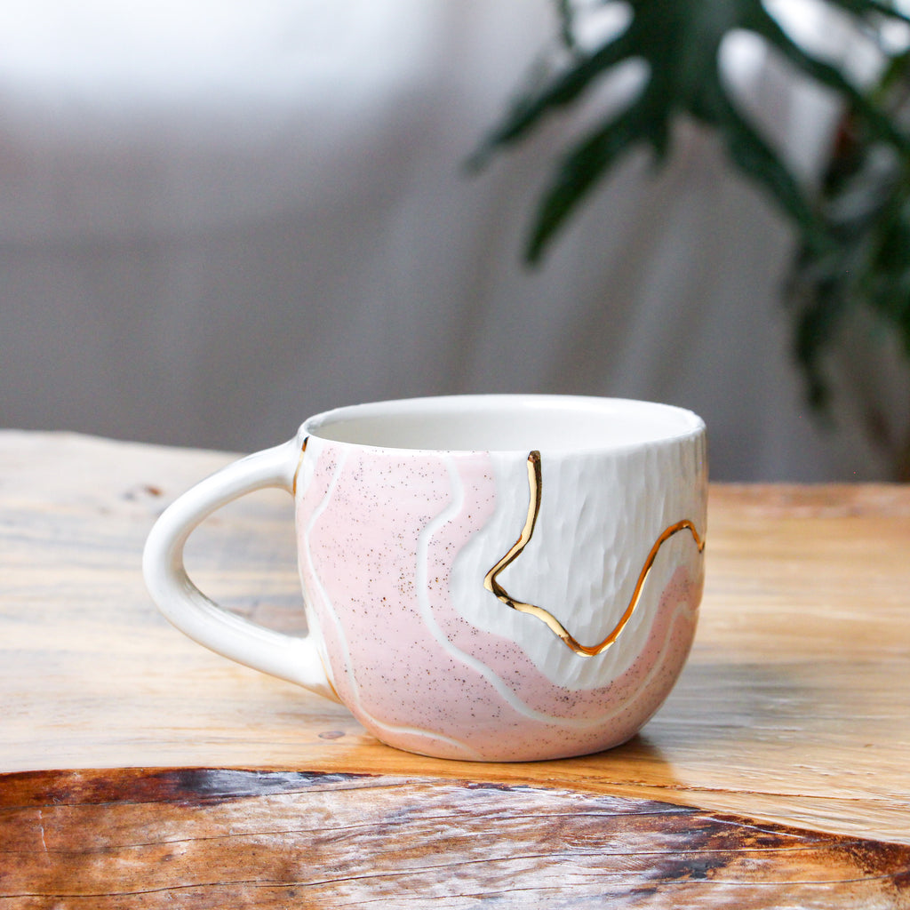Pink Sand Trail Teacup 10oz
