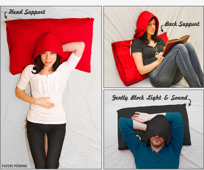 Why You Need It HoodiePillow Brand Pillowcase And Hooded Travel Cool Pillow That Covers Your Head