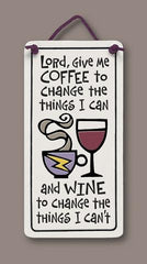 Coffee and Wine Small Plaque