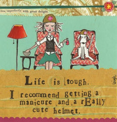 Curly Girl Art Print - Life is Tough