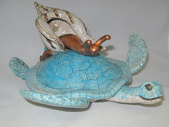 Sea Turtle with Snail
