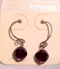 Faceted Glass Earrings-sold out