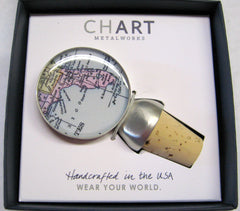 Florida Map Wine Stopper