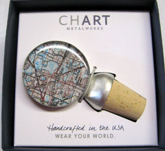 Lakeland Map Wine Stopper