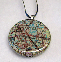 Lakeland Map Ornament