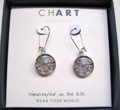 Lakeland Map Earrings