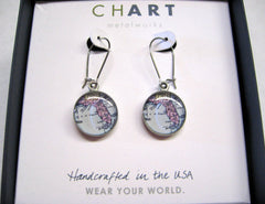 Florida Map Earrings-sold out