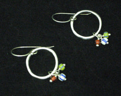Three Dangle Beads Earrings