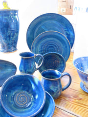 Silverman Dinnerware - Water Blue
