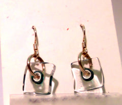 Square Glass Earrings