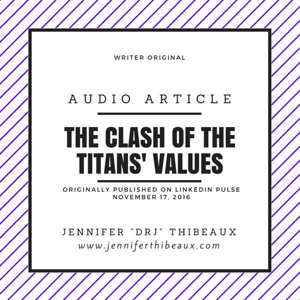The Clash of the Titans' Values