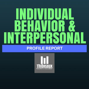 Individual Behavior and Interpersonal Profile (FIRO-B®)