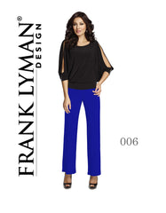 006 (Knit Jersey Pant Marine Blue, Cobalt Blue) Wear with matching cobalt jacket 024