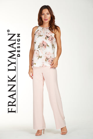 038 (Rose/Off white lined pant)