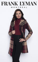 203178U (Cardigan sweater)  Shown with sweater 203154U Burgundy