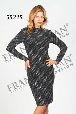 55225 (Metallic Knit Sequin Dress)