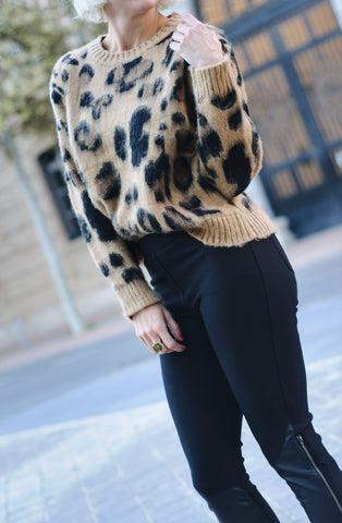 MSF1226 (Leopard sweater only)  Shown with pant 328