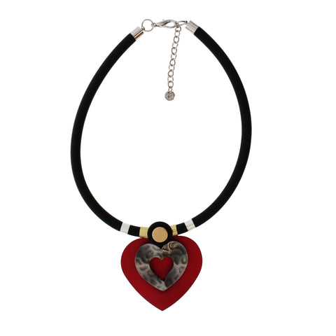 9606 (Heart Pendant)  Red, Black available