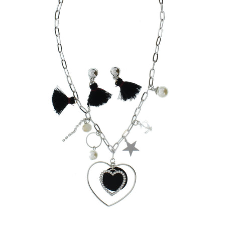9697 (Heart necklace with earrings)  Super Value