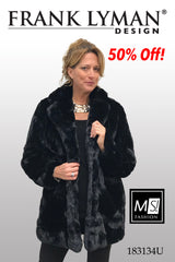 183134U (Faux fur jacket only)  Fitted Style Consider sizing up