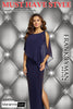 68004 (Navy/Ultra blue/tomato Evening Gown)